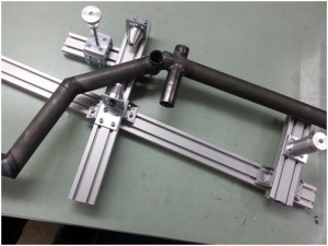 Our team-built welding alignment jig.